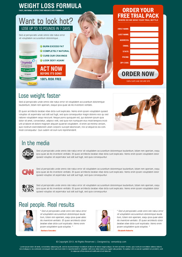 Weight loss product landing page design to sale weight loss product and services from http://www.semanticlp.com/buy-now1.php?p=765