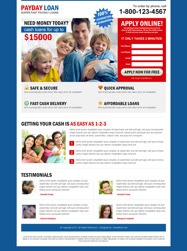 High converting professional pay day loan effective landing page design to boost your conversion and sale from http://www.semanticlp.com/buy-now1.php?p=787